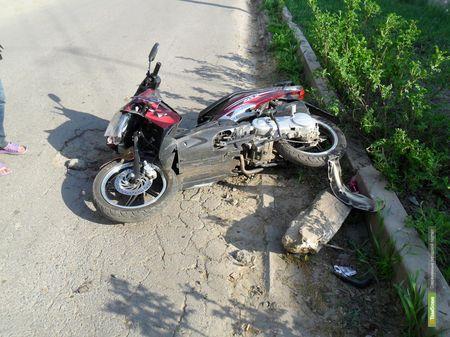 Пьяный тамбовчанин перевернулся на скутере