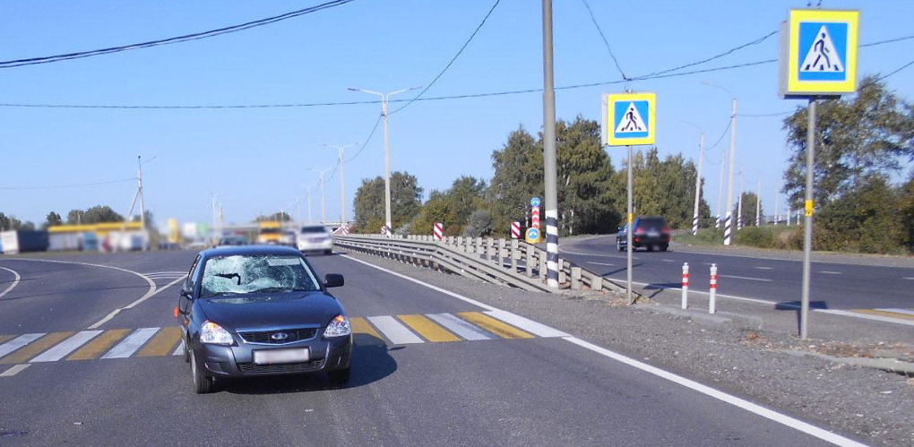 Молодой водитель легковушки сбил пешехода
