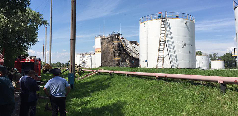 Возгорание на нефтебазе в Тамбове произошло из-за нарушения правил безопасности