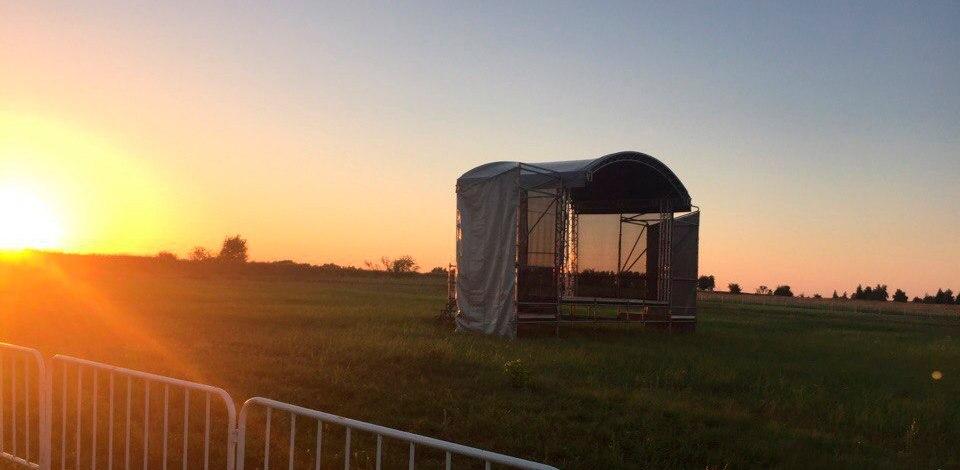 На рок-фестивале «Чернозём» соорудили сразу две сцены