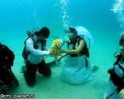 В Польше сыграли самую большую свадьбу под водой