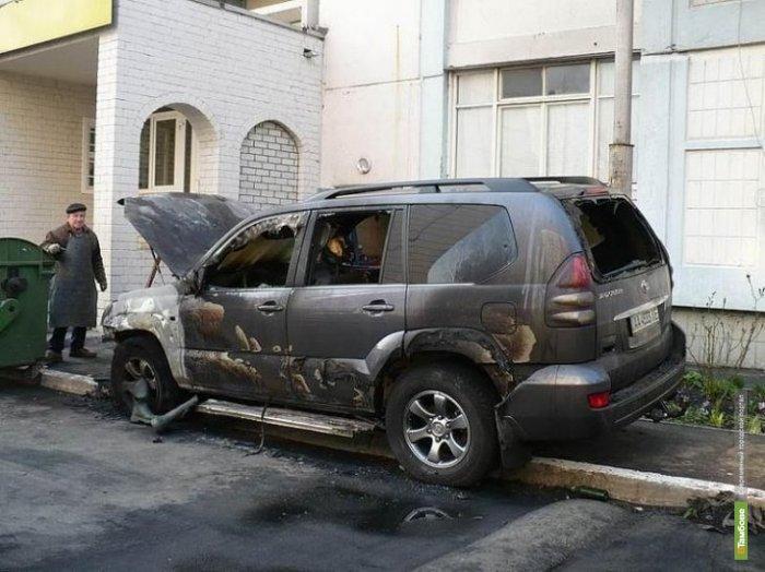 За одну ночь в Тамбове сгорели три автомобиля