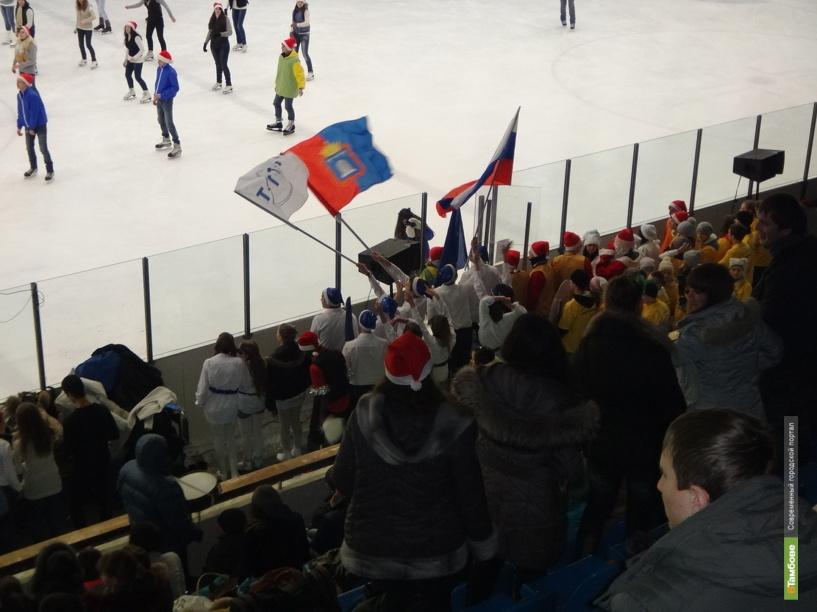 Для молодежи в Тамбове устроили спортивный баттл на льду