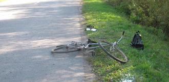 Водитель иномарки сбил ребёнка на велосипеде
