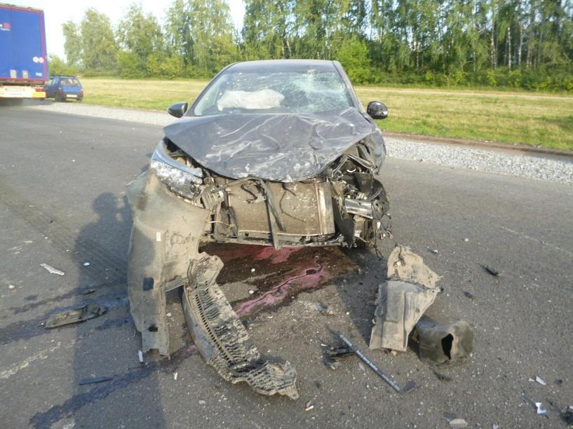 В Притамбовье «двенашка» зацепила две машины и улетела в кювет