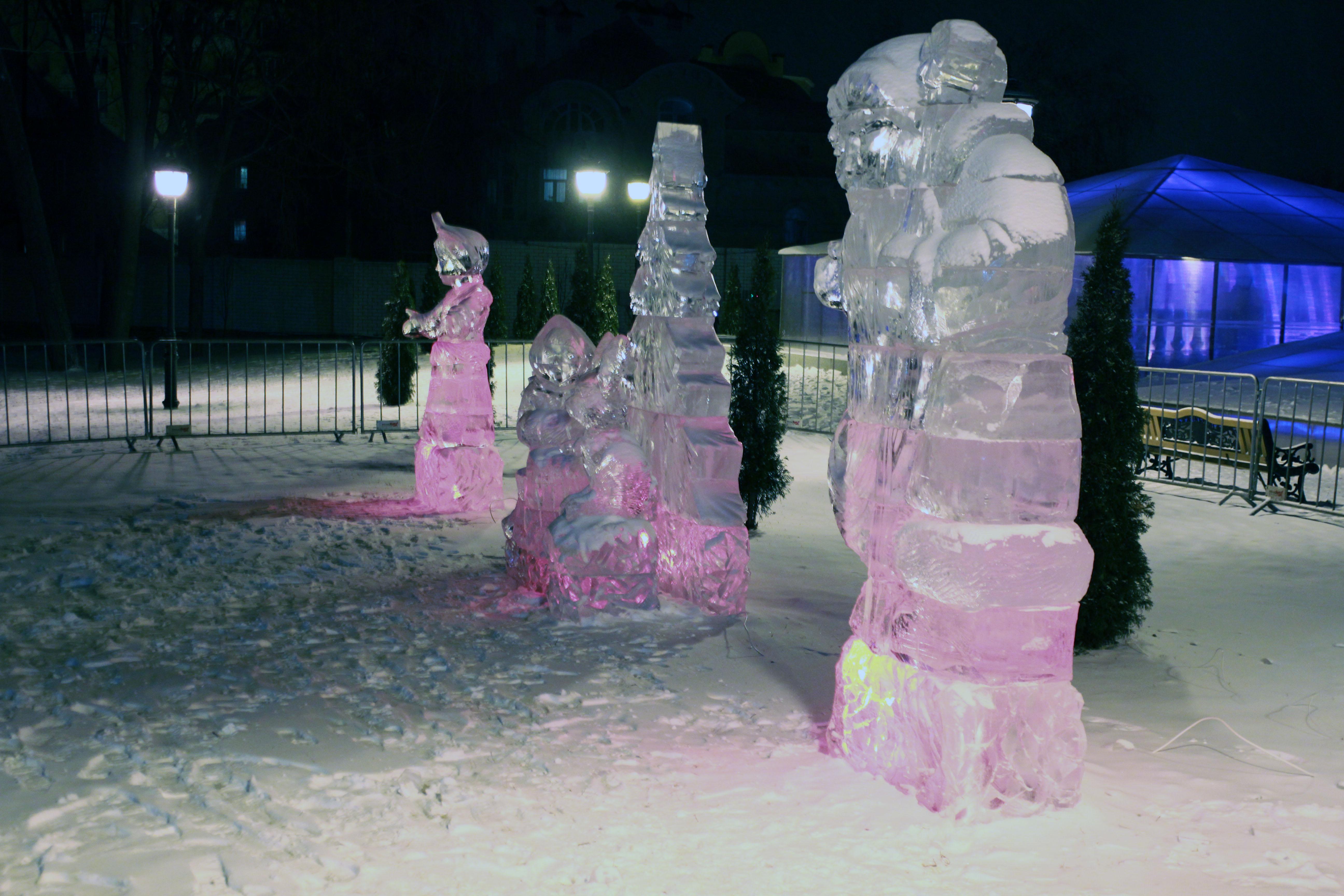 Выставка ледяных скульптур 2017