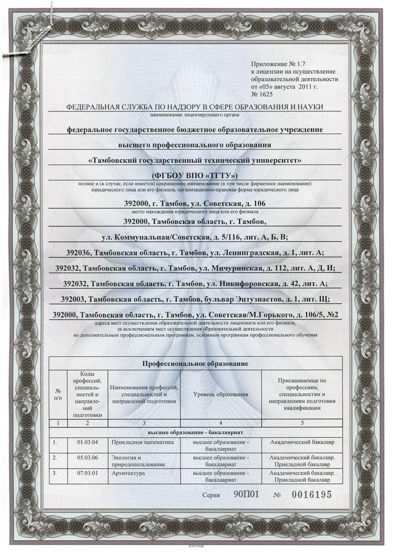 ТГТУ получил новую лицензию на образовательную деятельность