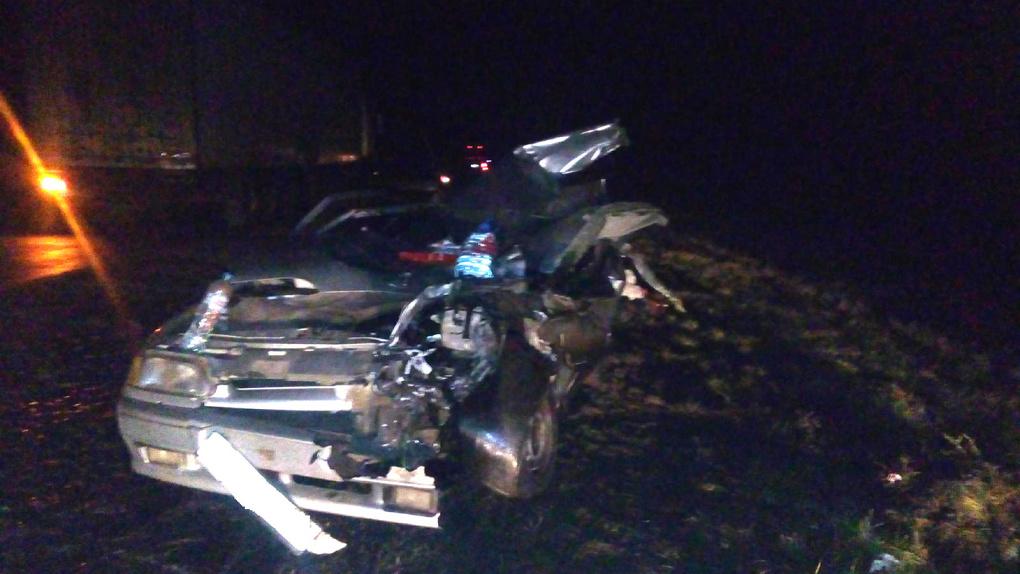Легковушка врезалась вавтопоезд вТамбовской области: один человек ранен