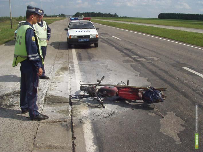 16-летний тамбовчанин перевернулся на мотоцикле