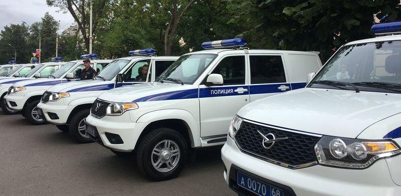Автопарк тамбовской полиции пополнился новыми автомобилями