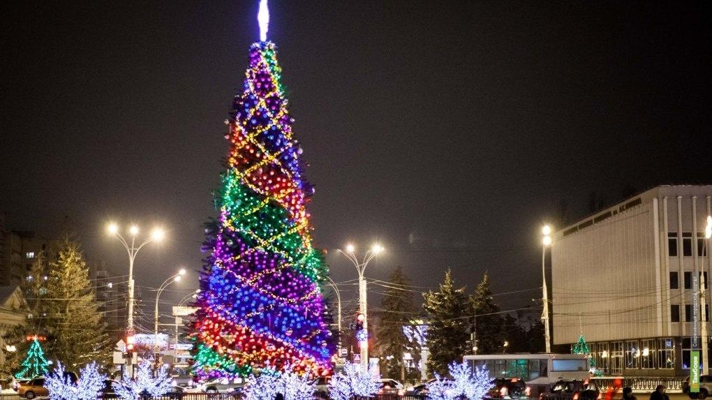 Более 80 мест в Тамбове украсят новогодними ёлками