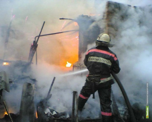 Пожар под Тамбовом унес жизнь 59-летнего мужчины