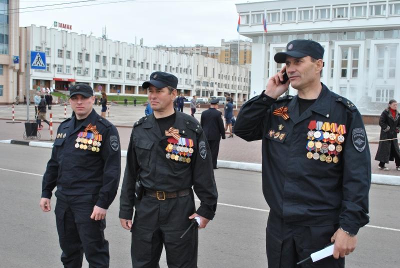 Более полутора тысячи полицейских охраняли спокойствие тамбовчан в День Победы