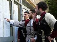 На выборах в Грузии оппозиция обходит партию Саакашвили