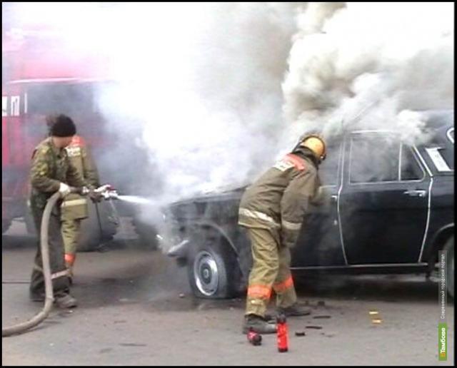 4 легковушки сгорели на Тамбовщине за выходные
