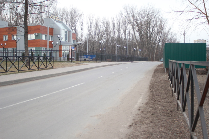 В Тамбове ремонтируют дорогу к лыжному стадиону