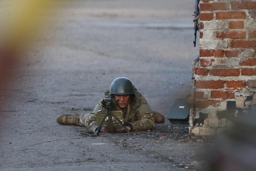 Украинская армия штурмует город Краматорск