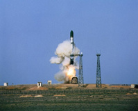 Пуск российской баллистической ракеты прошел неудачно