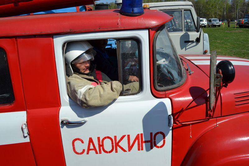 В Тамбовской области загорелся Камаз