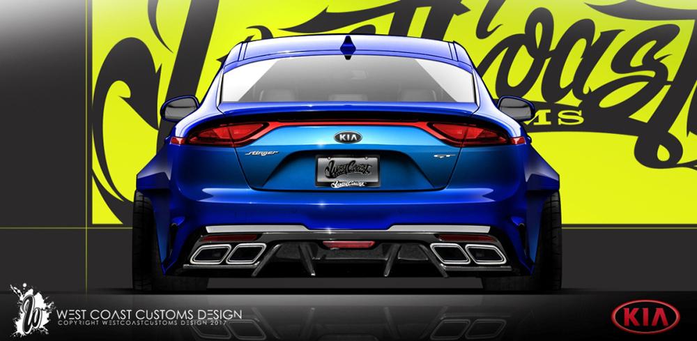 KIA представит уникальный Stinger GT на выставке SEMA 2017