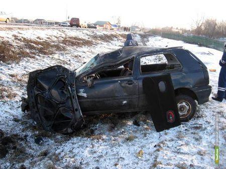 Пьяный тамбовский автомобилист перевернулся на машине
