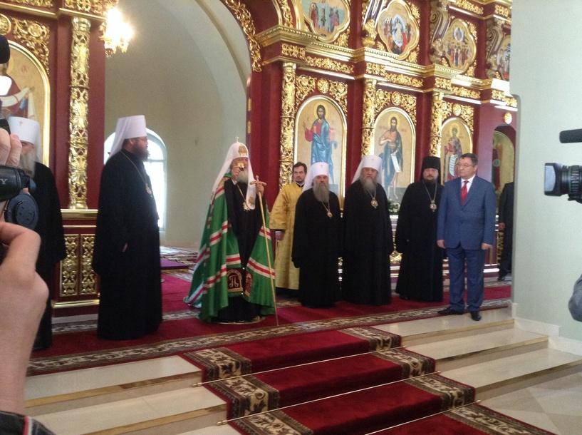 Патриарх Кирилл побывал в тамбовском Казанском монастыре