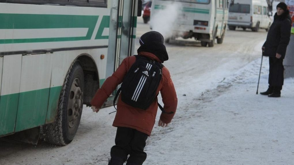 В регионе готовят законопроект о запрете высаживать детей-безбилетников из автобуса в морозы