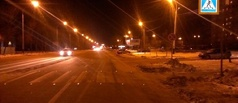 Пешеходный переход на Киквидзе подсветили «кошачьими глазами»