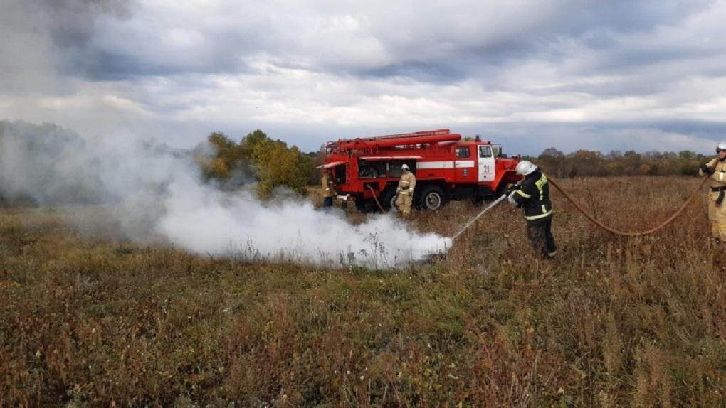 В Мучкапском районе провели тренировку по тушению ландшафтных пожаров