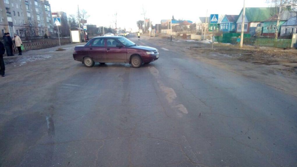 ВРассказове автомобиль сбил женщину напешеходном переходе