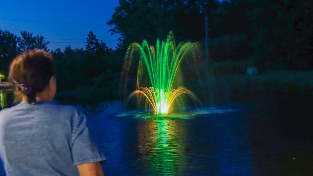На набережной Мичуринска отремонтировали фонтан