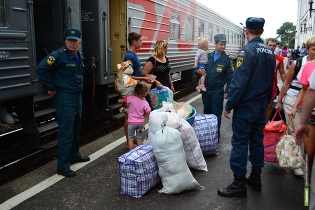 На Тамбовщину прибыла очередная партия украинских беженцев