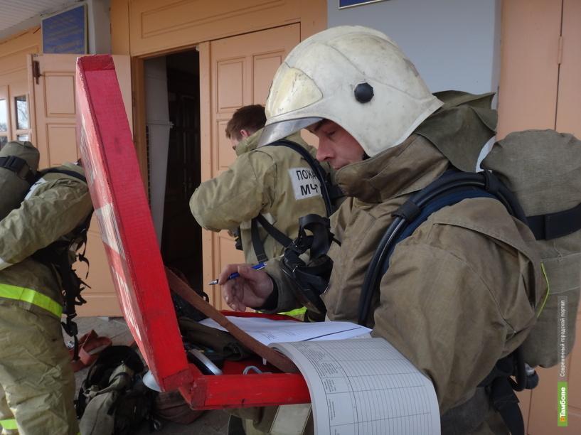 В одной из школ Тамбова «отрепетировали» тушение огня