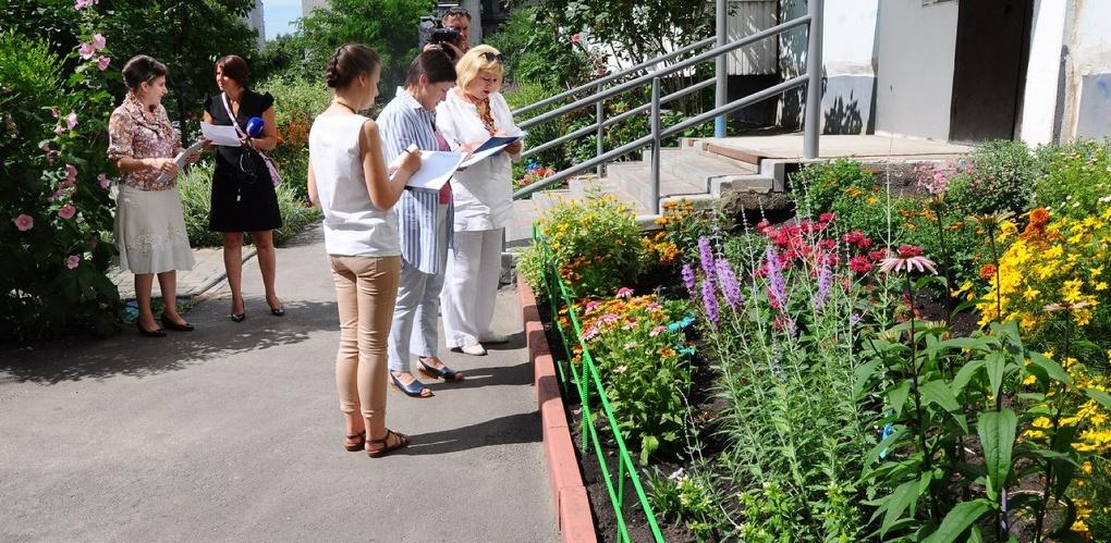 В областном центре определили лучшие дворовые цветники