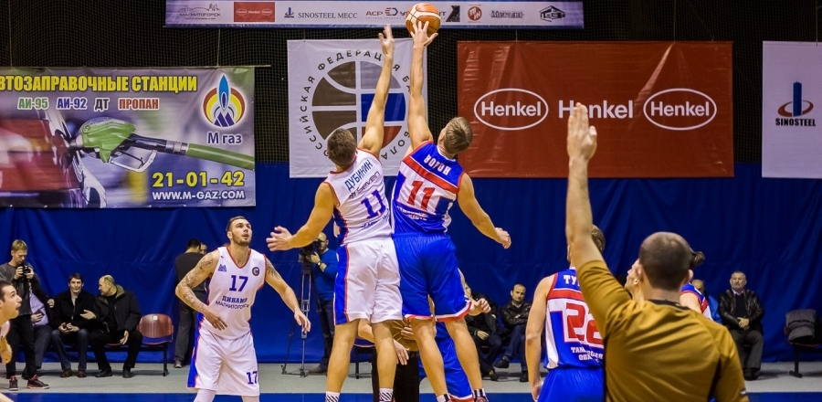 Тамбовские баскетболисты взяли реванш у магнитогорского «Динамо»