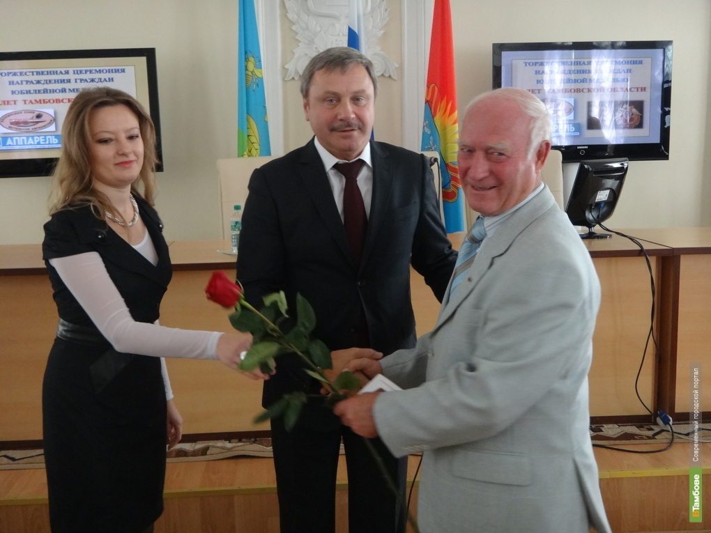 Ещё 30 тамбовчан повесили на грудь юбилейные медали к 75-летию области