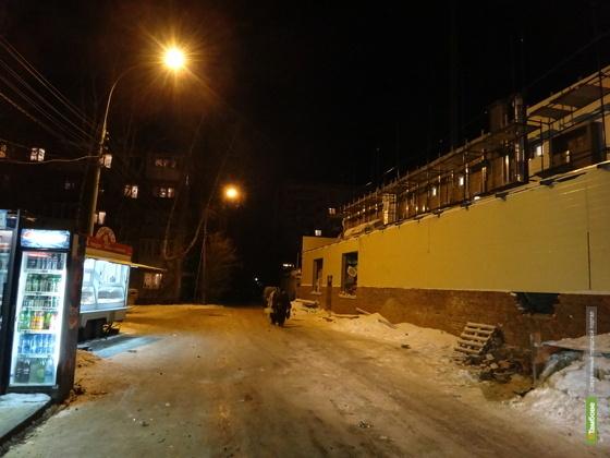График работы уличного освещения в Тамбове не соответствует нормативу
