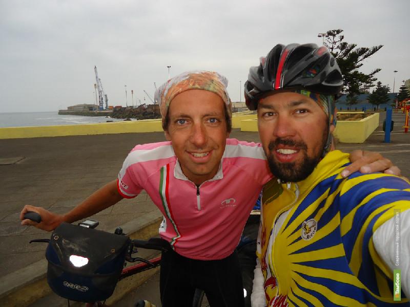 Тамбовского велосипедиста накормили французские пенсионеры