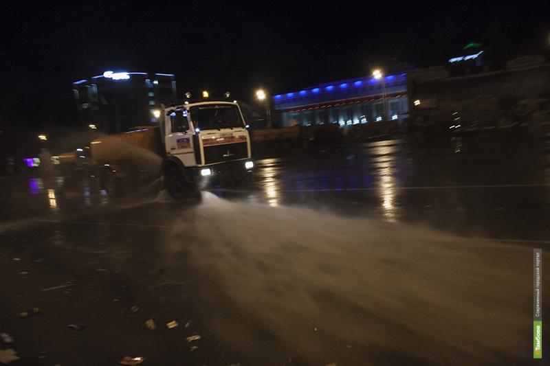 За одну ночь Тамбов избавили от постпраздничного мусора