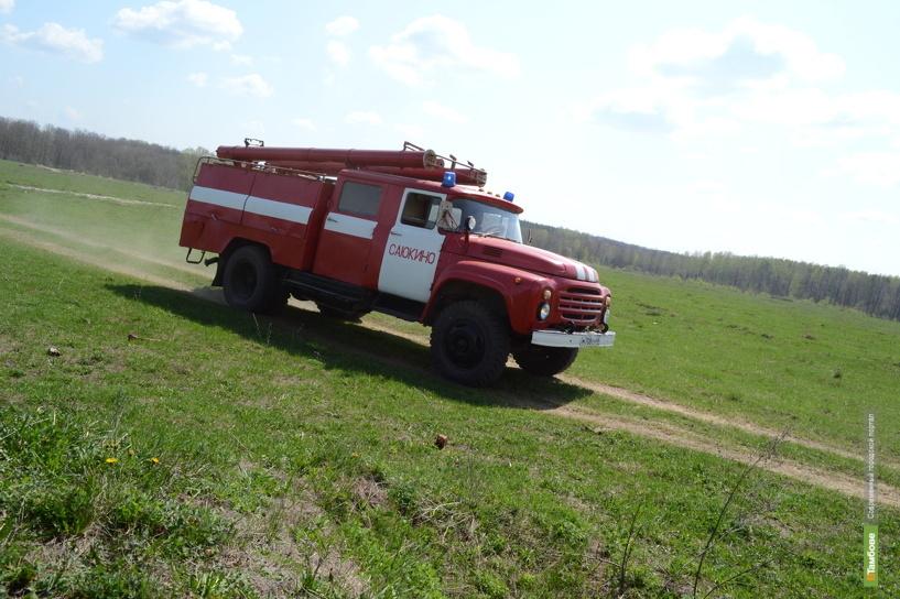 Тамбовских пожарных трижды поднимали по тревоге