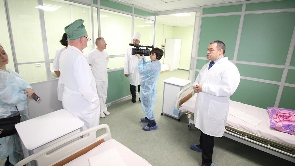 В больнице Мичуринска пациенты будут лежать в палатах-трансформерах