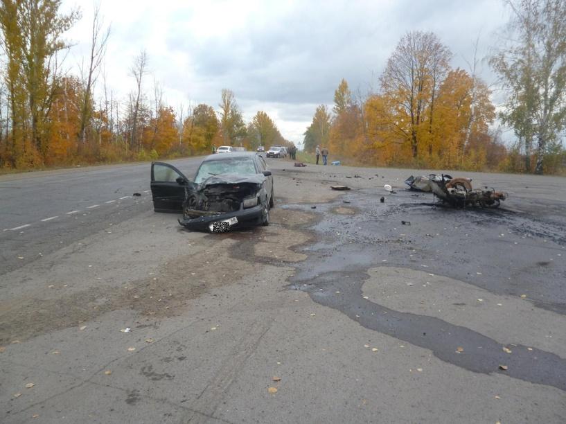 На трассе в Тамбовском районе в ДТП погиб пенсионер