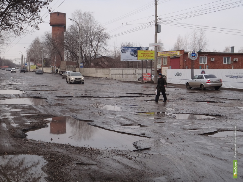 Четверть всех дорог Тамбова отремонтируют до начала лета