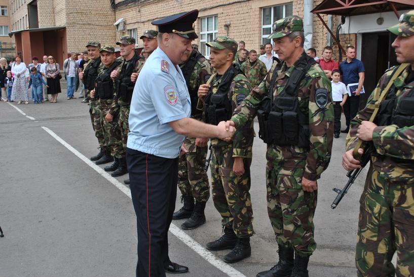 Тамбовские СОБРовцы вернулись из боевой командировки c Северного Кавказа
