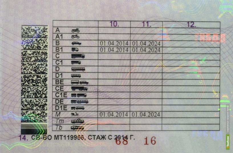 В Тамбове можно получить водительские права нового образца