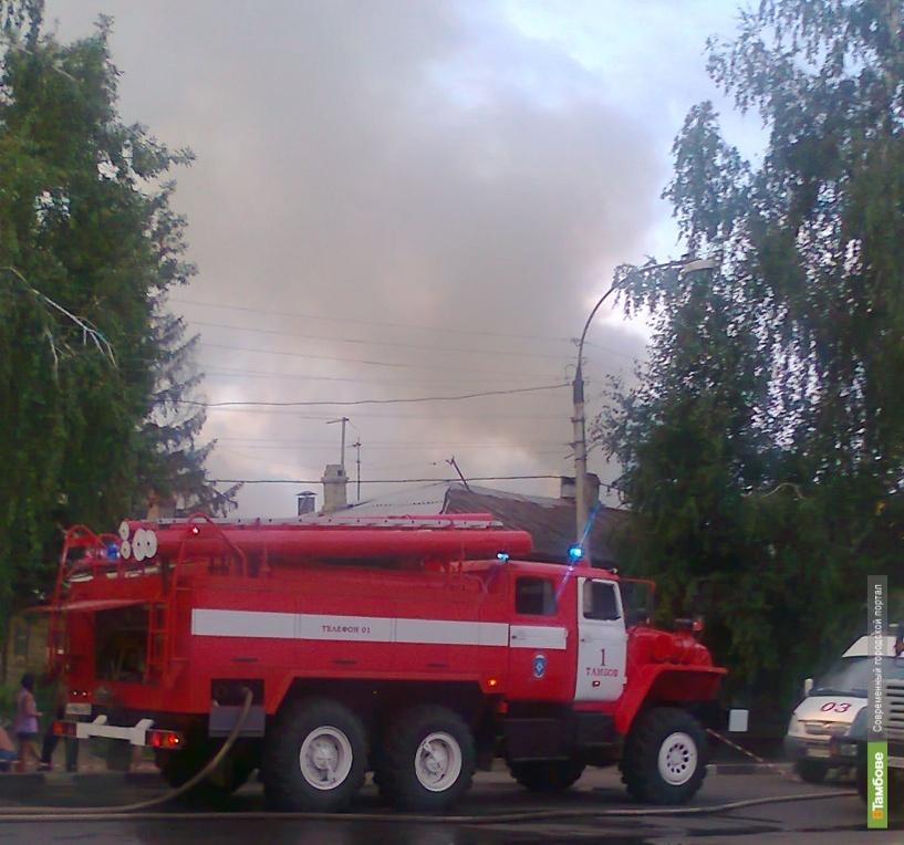 Пожар оставил тамбовчан без крыши над головой