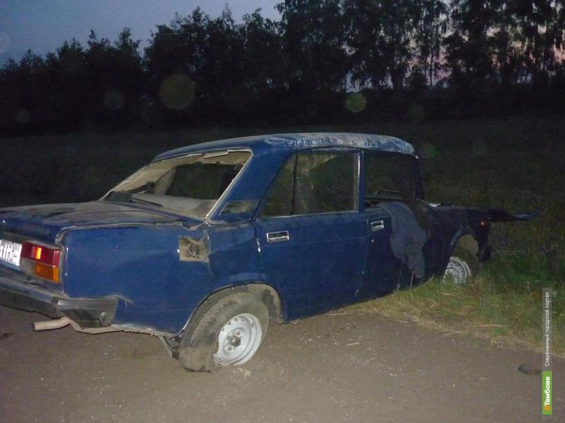 На тамбовской дороге перевернулся автомобиль