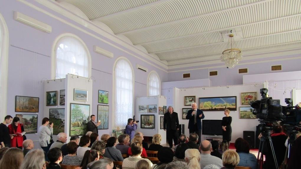 Тамбове открылась выставка к80-летию создания регионального отделения Союза живописцев