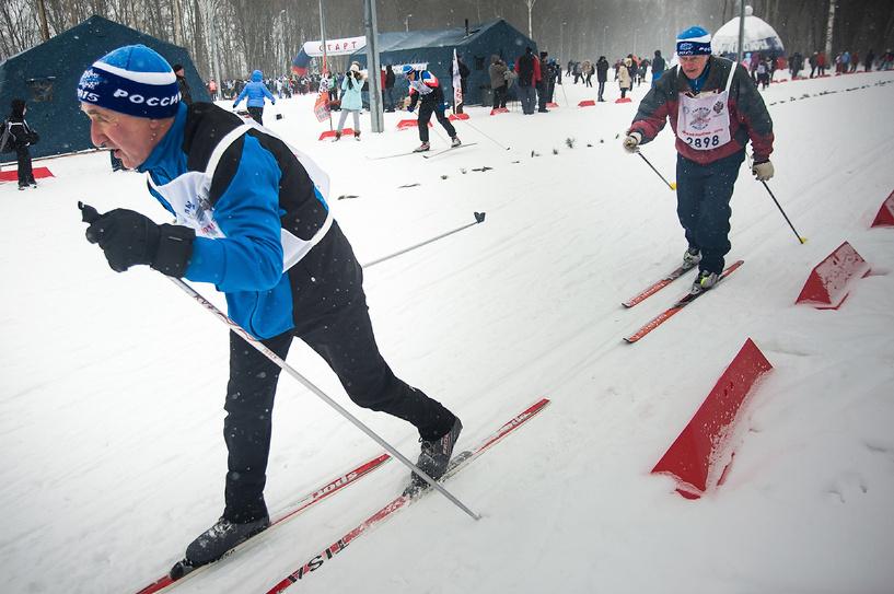 На «Лыжню России» в Тамбове вышли и малыши, и ветераны спорта