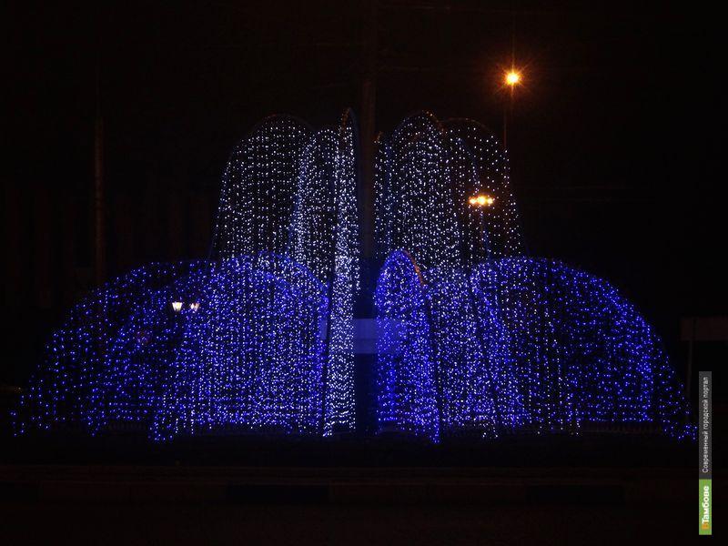 У Парка Победы «заструился» световой фонтан